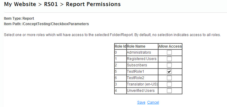 Reporting Services SSRS DNN Permissions